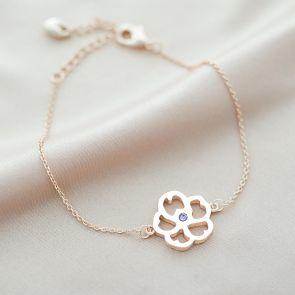 Birth Flower Personalised Bracelet