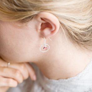 Personalised Birthstone Halo Drop Earrings