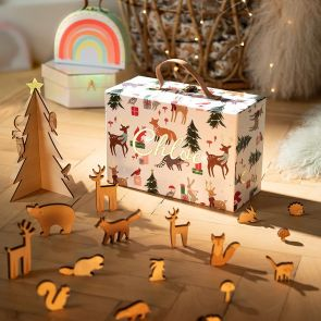 Personalised Christmas Woodland Advent Calendar