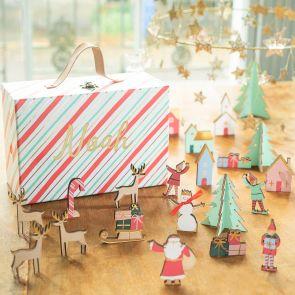 Personalised Festive Village Advent Calendar