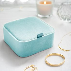 Personalised Square Velvet Jewellery Box