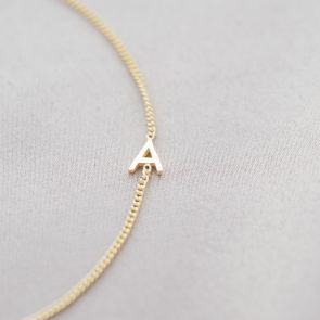 Personalised Sterling Silver Letter Bracelet