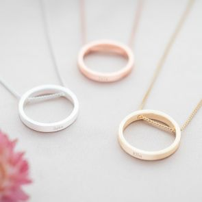 Ring Pendant Personalised Name Necklace