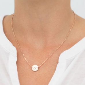 Personalised Initial Disc Necklace