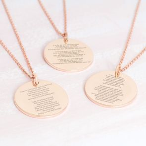 My Favourite Song Lyric Disc Personalised Necklace