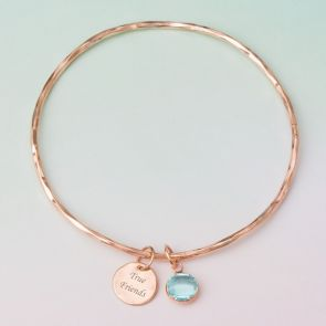 'True Friends' Personalised Message Bangle