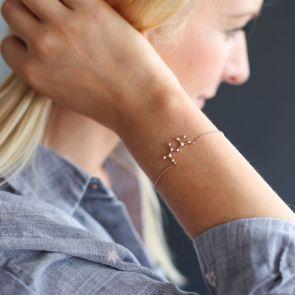 Zodiac Crystal Personalised Bracelet