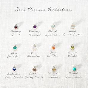Add a Semi Precious Birthstone Personalised Charm