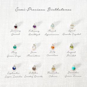 Add a Semi Precious Birthstone Personalised Charm