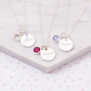 Mini Esme Sterling Silver Children's Name Necklace