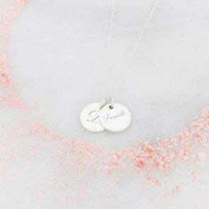 Stephanie Double Disc Personalised Necklace