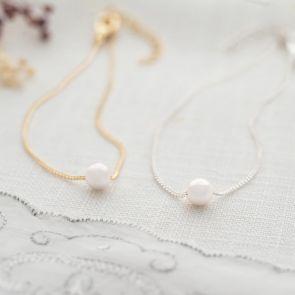 Single Pearl Charm Personalised Bracelet