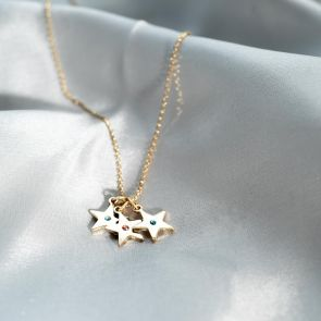 Star Family Birthstone Personalised Necklace