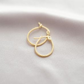 Sterling Silver Oval Hoop Personalised Earrings