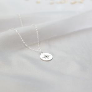 Sterling Silver Aurora Star Initial Personalised Necklace