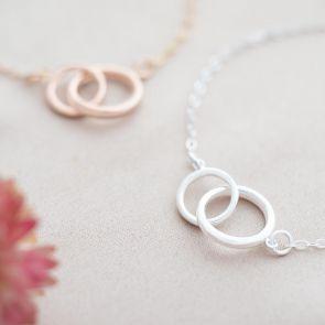 Sterling Silver Eternity Circle Of Life Personalised Bracelet