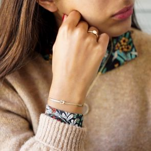Sterling Silver Infinity Knot Personalised Bracelet