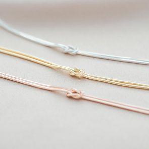 Infinity Knot Sterling Silver Personalised Bracelet