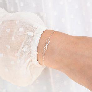 Sterling Silver Infinity Personalised Bracelet