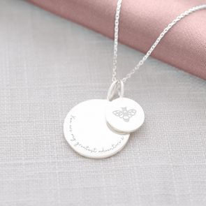 Sterling Silver Sia Charm Illustration and Message Personalised Necklace