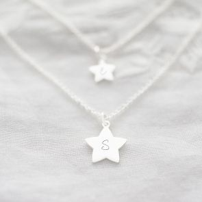 Sterling Silver Star Charm Personalised Layer Necklace