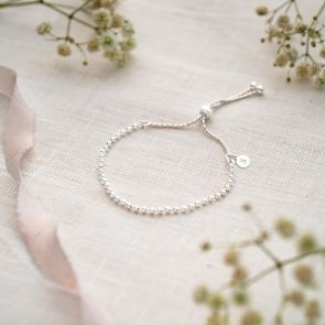 Sterling Silver Bead Slider Bracelet