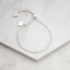 Sterling Silver Star Slider Bracelet