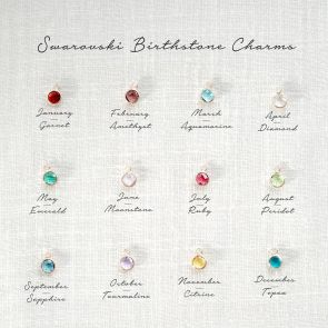 Add a Swarovski Birthstone Personalised Charm