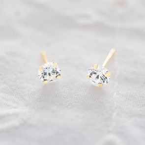 Swarovski Crystal Pure Gold Stud Personalised Earrings