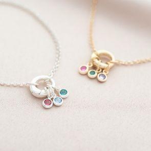 Tia Family Birthstone Personalised Bracelet