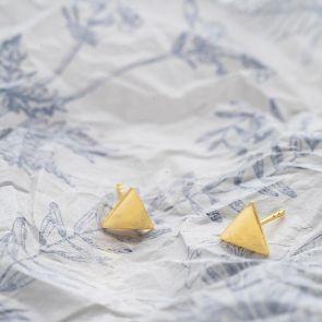 Triangle Stud Sterling Silver Earrings