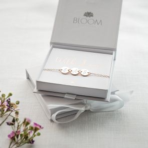Triple Initial Disc Personalised Bracelet