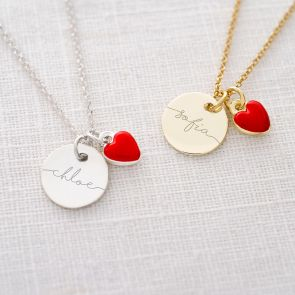 Valentine Esme Disc Personalised Name Necklace