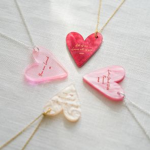 Valentines Personalised Heart Necklace