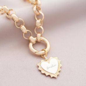 Vintage Heart Personalised Statement Necklace