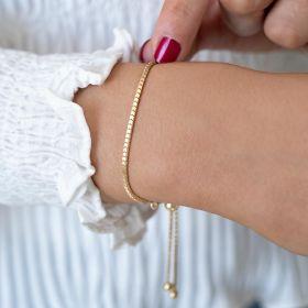 Edie Personalised Slider Bracelet