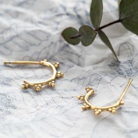 Sterling Silver Ornate Hoop Earrings