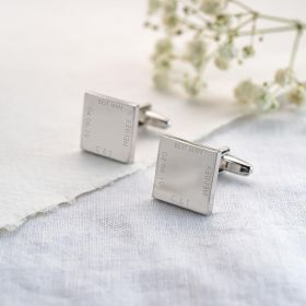 personalised wedding cufflinks for best man, groomsmen or groom