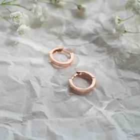 Rose Gold Plated Sterling Silver Huggie hoop Earrings