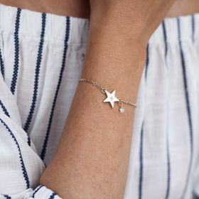 Personalised Star And Birthstone Bracelet