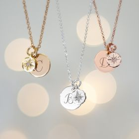 Aurora North Star Personalised initial and Star Necklace