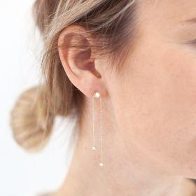 Jemma Chain Drop Personalised Earrings