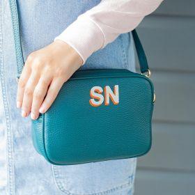 Hand Painted Leather Personalised Handbag