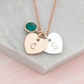 Personalised Hand Stamped Heart Pendant Necklace
