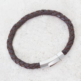 Woven Feature Clasp Mens Bracelet
