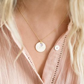 Personalised Sterling Khloe Disc Necklace