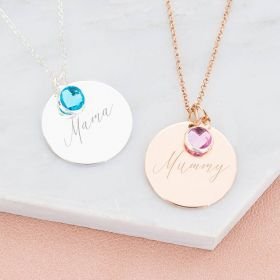 Khloe Disc Personalised Necklace