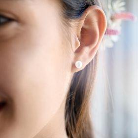 Lola Sterling Silver Pearl Earrings