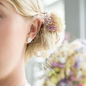 Bridesmaid Sterling Silver Knot Earrings