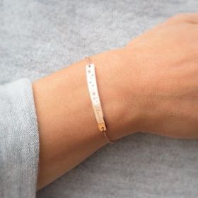 Star Bar Personalised Bracelet